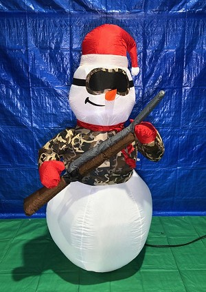 6' Gemmy Airblown Inflatable Hunting Snowman w/ Rifle