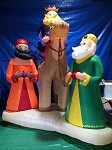 12' Gemmy Airblown Mixed Media Three Kings Scene with Camel