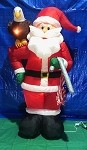 7' Gemmy Airblown Inflatable Patriotic Santa with Eagle and Flag