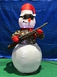 6' Gemmy Airblown Inflatable Snowman W/ Hunting Rifle
