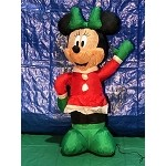 3 1/2' Gemmy Airblown Inflatable Minnie Mouse in Christmas Outfit
