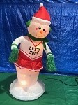6' Gemmy Airblown Animated Inflatable Dancing Snowman Cheerleader Girl