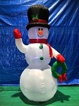 7' Gemmy Airblown Inflatable Snowman w/ Wreath