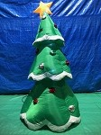 7' Gemmy Airblown Inflatable Mixed Media Metallic Christmas Tree