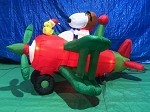6 1/2' Gemmy Airblown Animated Inflatable Snoopy in Airplane