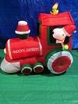 5' Gemmy Airblown Inflatable Snoopy and Woodstock Train Scene