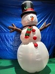 12' Gemmy Airblown Inflatable Snowman Giant w/ Stick Arms
