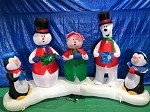12' Gemmy Airblown inflatable LightShow Christmas Carolers w/ Sound