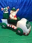 6' Gemmy Airblown Inflatable Santa Driving Golf Cart