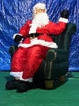 5' Gemmy Airblown Inflatable Animated Realistic Santa Sitting Waiving