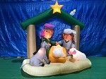 6' Gemmy Airblown Inflatable Nativity Scene w/ Donkey & Sheep