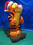 Gemmy Airblown Inflatable Tigger Skiing w/ Santa Hat