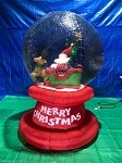 6' AirBlown INflatable Santa in Sleigh Snow Globe w/ Colorful Flashing Lights