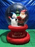 6' Air Blown Inflatable Santa and Snowman Snow Globe