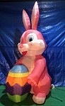 12' Air Blown Inflatable Pink Easter Bunny w/ Egg