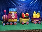 15' Air Blown Inflatable Easter Bunny DELUXE Train