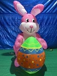 Gemmy Airblown ORIGINAL Inflatable Easter Bunny Holding Egg