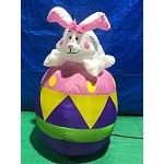 4' Air Blown Inflatable Easter Bunny on Egg PROTOTYPE