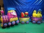 15' Air Blown Inflatable Easter Bunny DELUXE Train PROTOTYPE