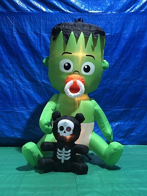 5 1/2' Gemmy Airblown Inflatable ANIMATED Baby Frankenstein Monster w/ Pacifier
