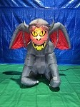 5 1/2' Gemmy Airblown Inflatable Grey Gargoyle