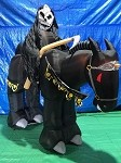 8' Gemmy Airblown Animated Inflatable Grim Reaper on Horse