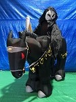 8' Gemmy Airblown Inflatable Grim Reaper on Horse