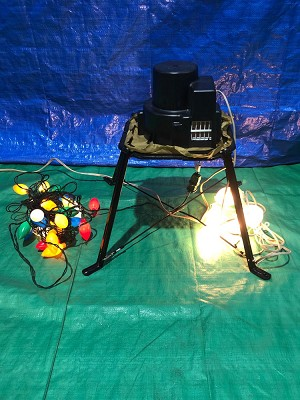 Vintage Gemmy Replacement Fan w/ Regular Lights and Colored Light String