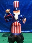 6' Gemmy Airblown Inflatable Patriotic Uncle Sam Sign and Flag