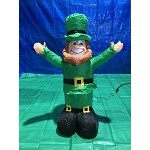 4' Air Blown Inflatable St Patrick's Day Leprechaun